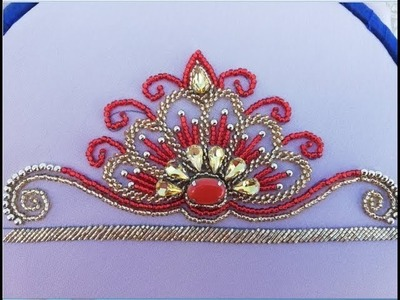 Hand Embroidery: beautiful design with beads