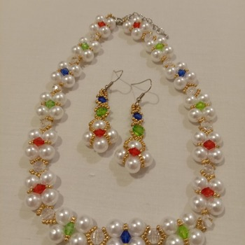 Handmade Royal Necklace Earrings Set