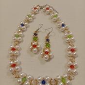 Handmade Royal Necklace Earrings Set