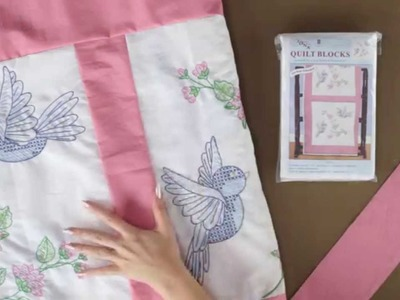 How to assemble Quilt Blocks with fabric stripping