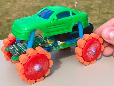 How to Make a Mini Monster Truck - DIY RC CAR