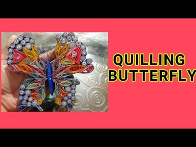 How to make a | Quilling Butterfly | Simple and easy method