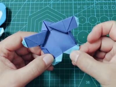How to make an Origami Doraemon   Easy Origami Tutorial