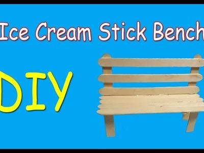 How to Make Ice Cream Stick Bench | Easy DIY Ice Cream Stick Bench | Why Crafts