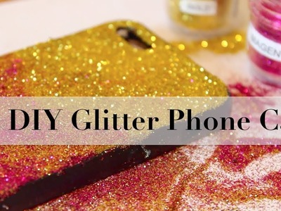How to make mobile cover at home | Diy  Glitter phone case |