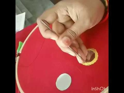 HOW TO STITCH A MIRROR WITH AARI NEEDLE