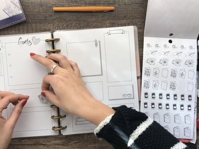 LETS MAKE BUJO PAGES IN A HAPPY PLANNER NOTEBOOK