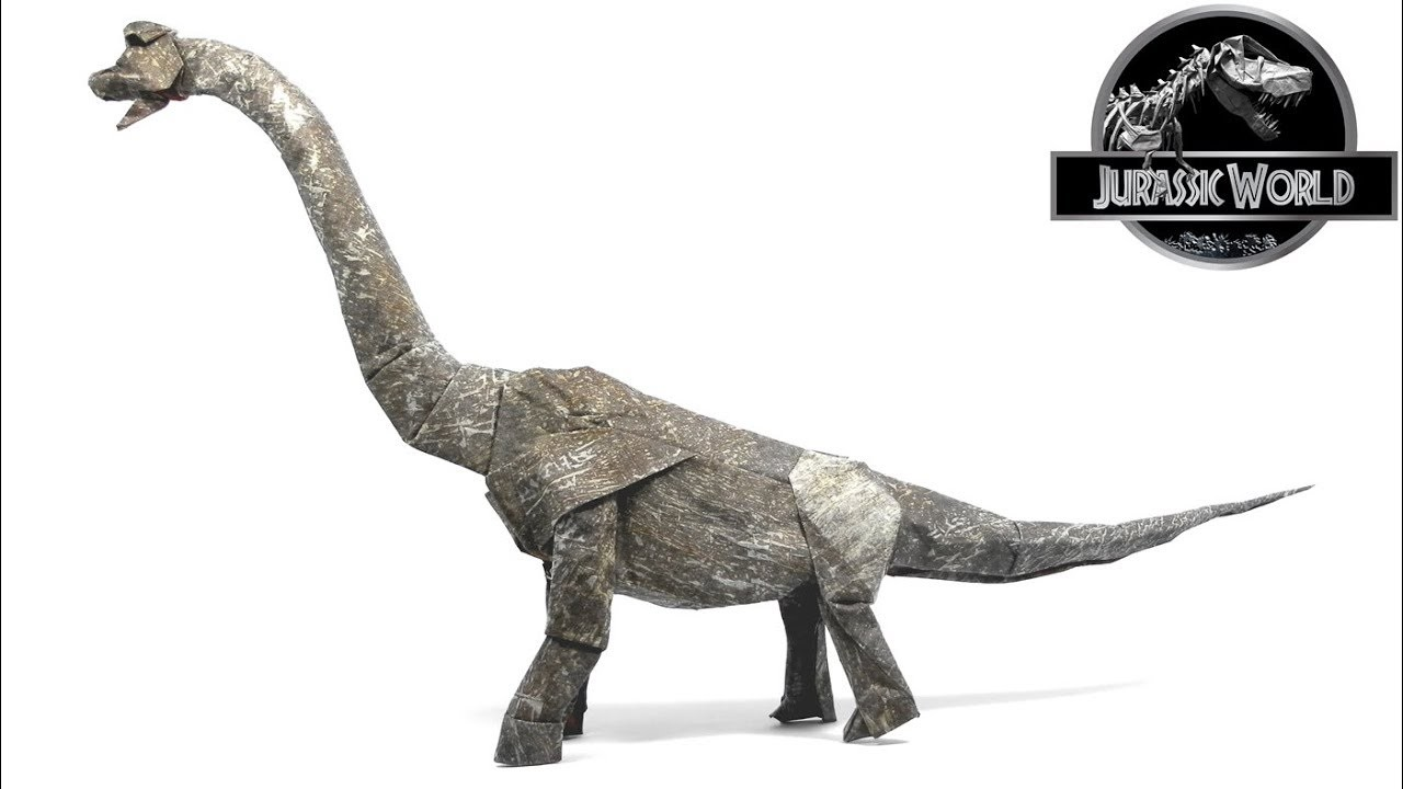 ORIGAMI BRACHIOSAURUS TIME LAPSE (Shuki Kato) 折り紙 ブラキオサウルス  恐竜  DINOSAUR  JURASSIC WORLD