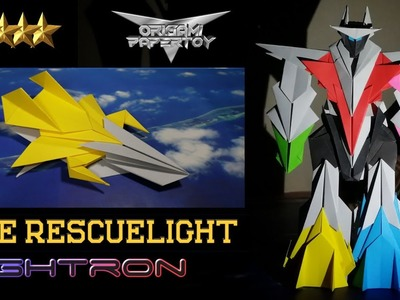 Origami Plane Papertoy - THE RESCUELIGHT - (The Hunters - part 4) - deyeight collection 2019