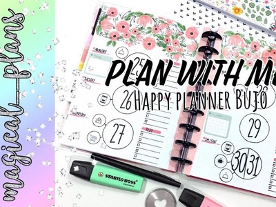 Plan with me -happy planner bujo   Magical Plans