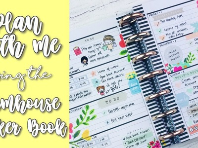 Plan With Me! | Mini Happy Planner | ???? Farmhouse Sticker Book! ????