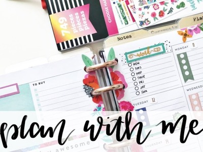 PLAN WITH ME Mini Happy Planner Dashboard: Mar 11-17, 2019