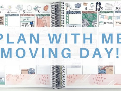 Plan With Me: Moving Day. Erin Condren Life Planner