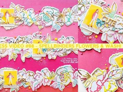 Process Video #88 - Spellbinders Flower Metal Dies and Washi Tape