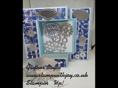 Tri Fold shutter Card using Geared up Garage Stampin' Up!