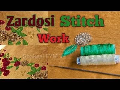 #ZardosiStitchWork  #ChallahWork         Zardosi Stitch Work Design Aari Embroidery | maggum work