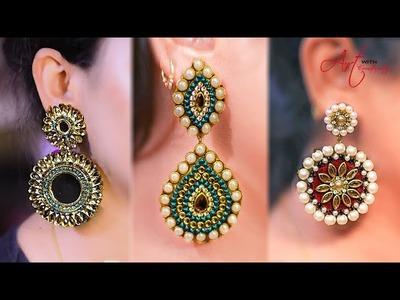3 easy long Earring   Earring for Long earring lovers   Best for party-wear