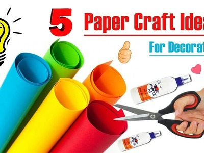 5 diy room decor idea with paper | Paper Craft for Room Decoration