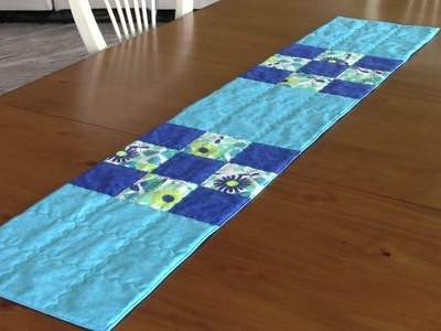 9 Patch Table Runner - great project for beginners