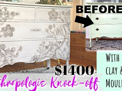 Anthropologie Knock-off $1400.00 dresser with clay and IOD moulds