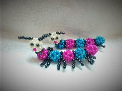 Beaded Ant || Beaded Animal || পুঁতির পিঁপড়া || How To Make Beaded Animals - beaded animals DIY