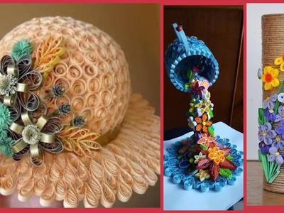 Beautiful quilling craft ideas.paper quilling craft decoration ideas