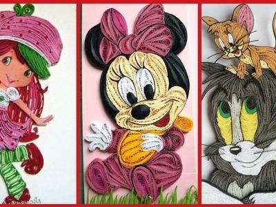 Cartoon Actors Paper Quilling Craft Ideas