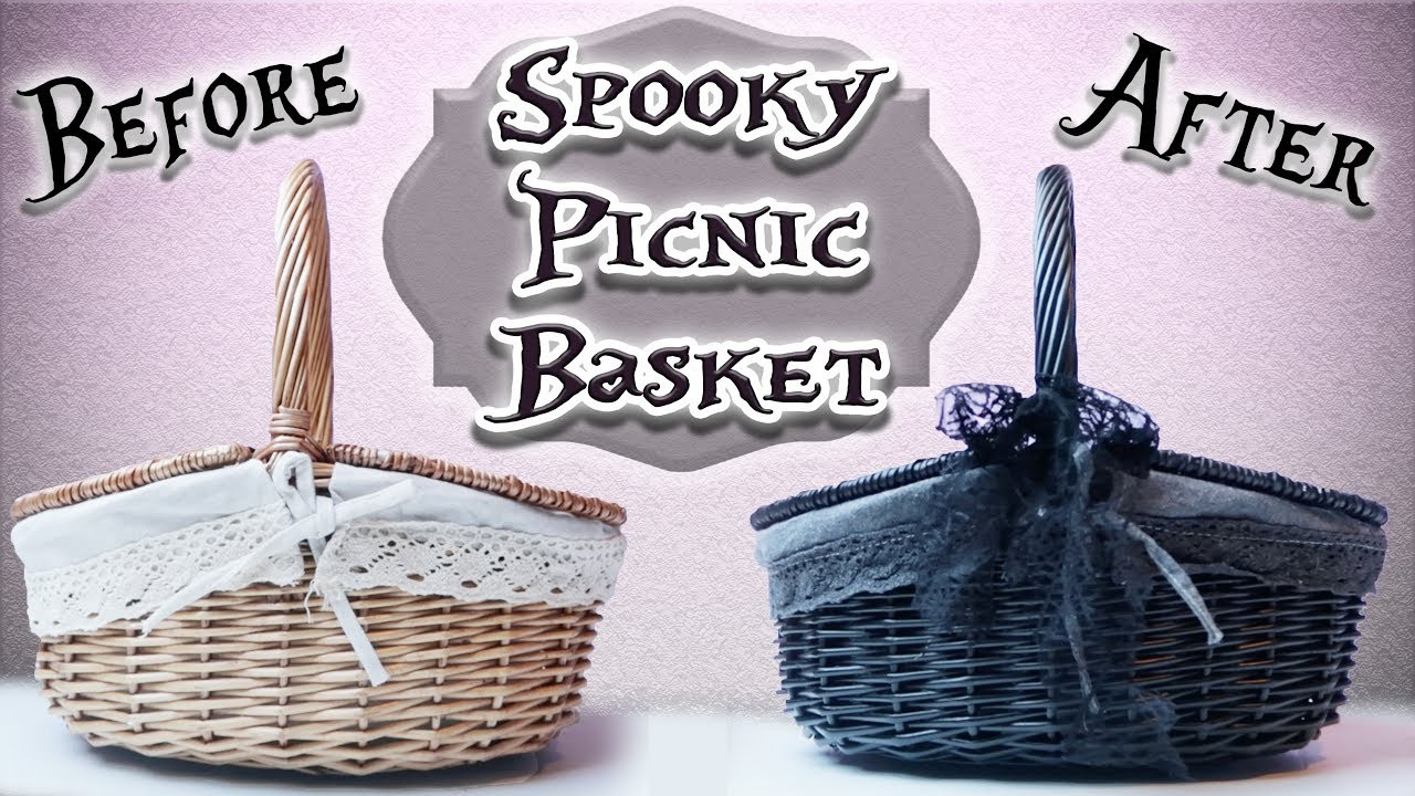 Craft With Me - Spooky.Goth Picnic Basket! | Toxic Tears
