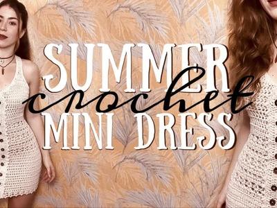Crochet Summer Dress | Mini Crochet Dress | BRUNATICALITY