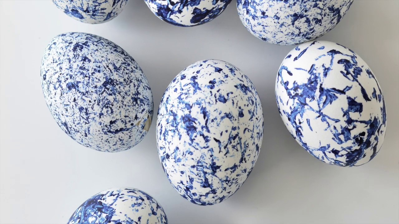DIY abstract painted Easter eggs - fun craft for any age.