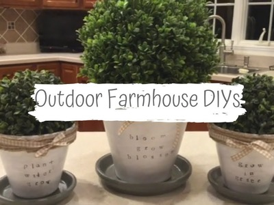 DIY AFFORDABLE SPRING PORCH DECOR | FARMHOUSE STYLE DIY | RUSTIC PORCH DECORATING