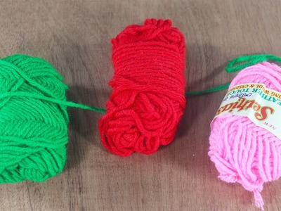 DIY Awesome Craft Out Of Wool !!!  Woolen Craft Idea !!!