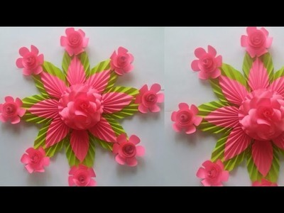 DIY:Beautiful Wall Hanging Craft Ideas Easy With Paper||Paper Flower Wall Hanging Craft Ideas