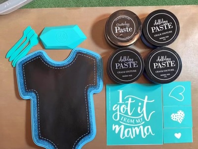 DIY Chalkboard Using Hot Mess Technique and Chalk Couture-Great for Craft Fairs and Gifts