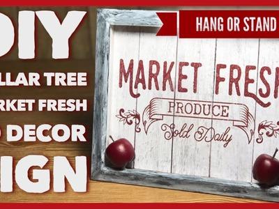 DIY Dollar Tree Market Fresh 3D Farmhouse Decor Sign - Wall Or Table Decor - Shadow Box Room Decor