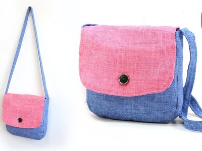 DIY EASY HANDBAG PURSE for GIRLS from OLD CLOTHES