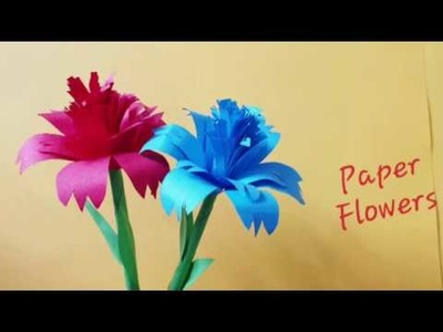 Diy.How to make Paper flowers.paper craft ideas.creative corner.school supplies.back to school