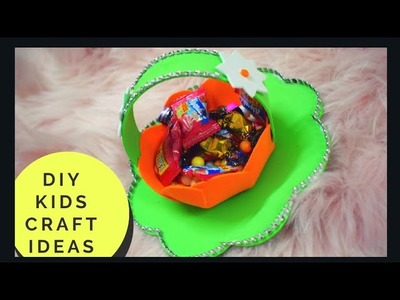 DIY Idea for Kids #PaperCraft | #DIY #Arts and #Crafts Easy paper craft #Basket #Decoration