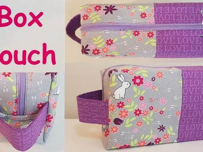#DIY Lined Box Pouch With Handle   Tutorial