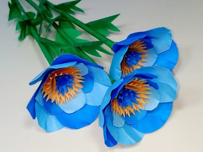 DIY Paper Flowers Making Tutorial | Paper Craft Homemade Beautiful Idea | Jarine's Crafty Creation