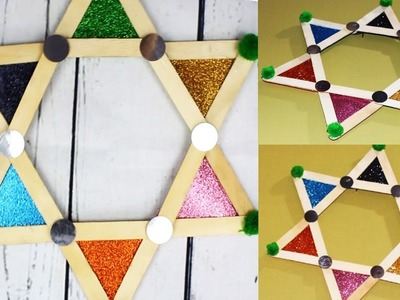 DIY POPSICLE STICK Wall Hanging I Easy Room Decor Craft Idea I Creative Diaries