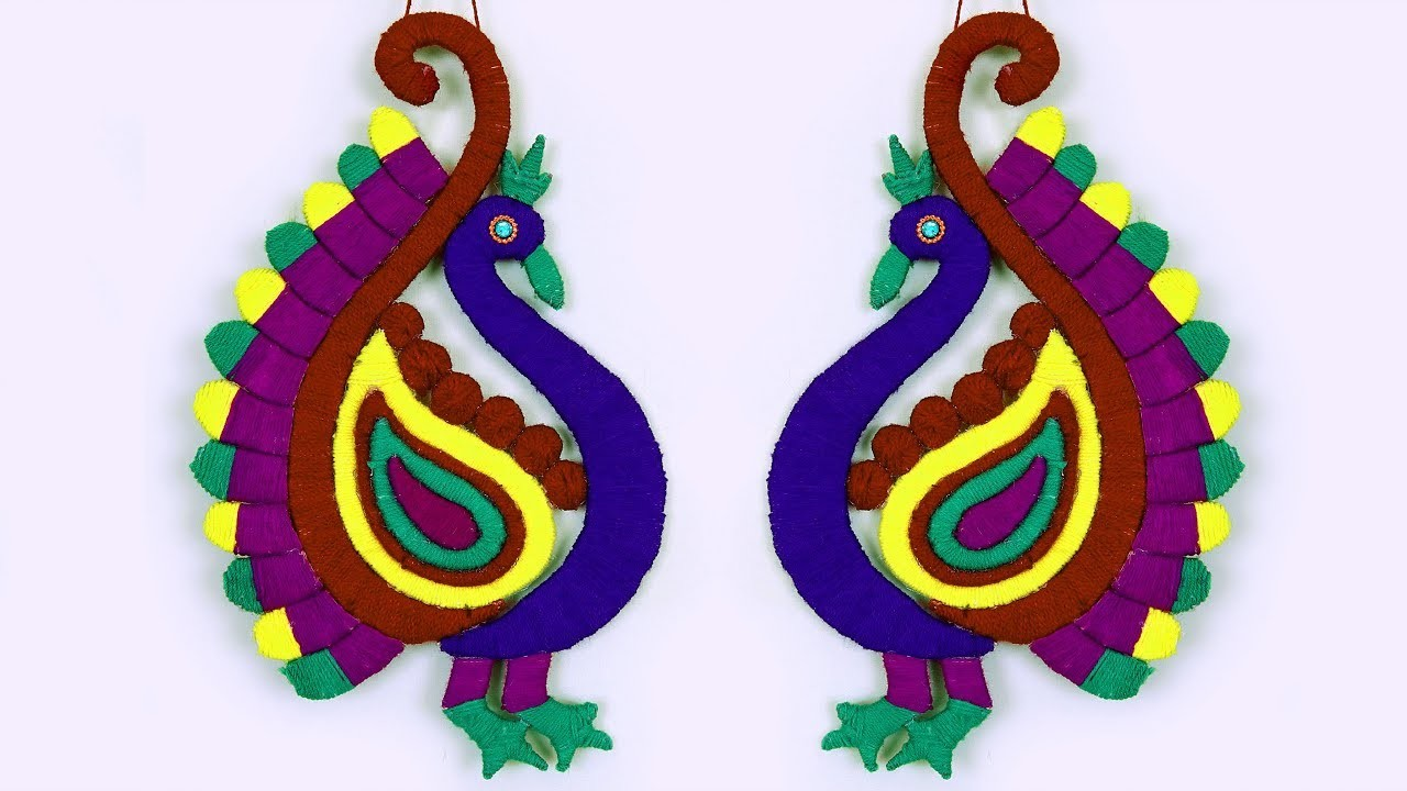 DIY Woolen Peacock Craft Idea || Innovative Wall Decor Craft || DIY Craft