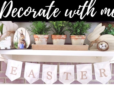 EASTER DECORATE WITH ME | EASTER HOME DECOR TOUR 2019