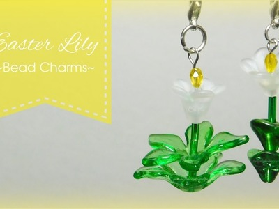 Easter Lily Bead Charms