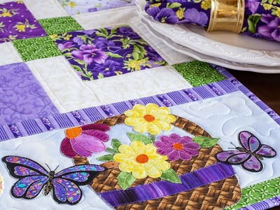 Easy Pieced Table Runner Series - May | a Shabby Fabrics Tutorial