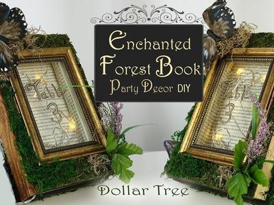 Enchanted Fairy Book DIY. Woodland Pary Decor. Dollar Tree Party DIY