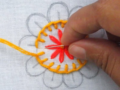 Hand Embroidery, Easy Flower Embroidery Tutorial for Beginner
