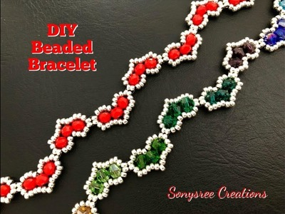 Hearty Beaded Bracelet || DIY Beaded Bracelet || How to make Beaded Bracelet