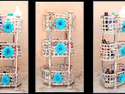 Home Made multi storage basket | newspaper basket | newspaper craft - #DIY