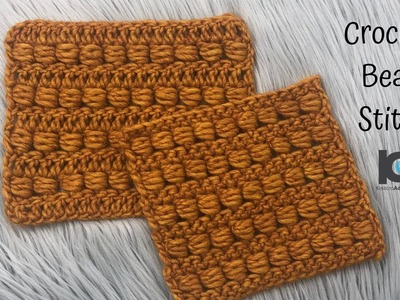 How to crochet : Bead stitch